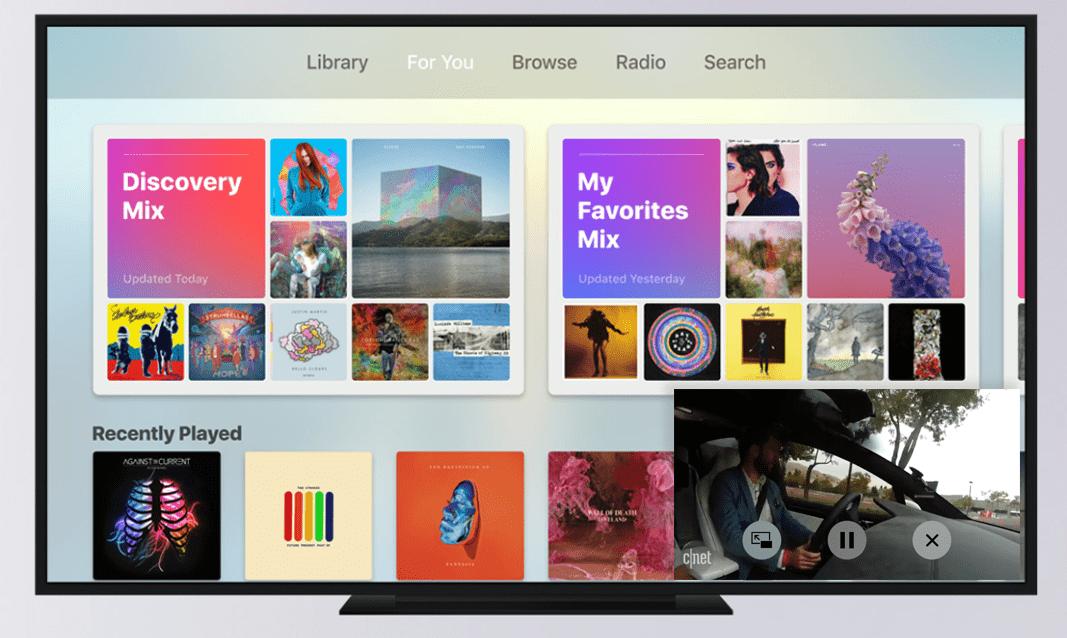 Kuulujutt: Apple TV saab TVOS 11-l tuge paljudele kasutajatele ja režiimis Pilt pildil
