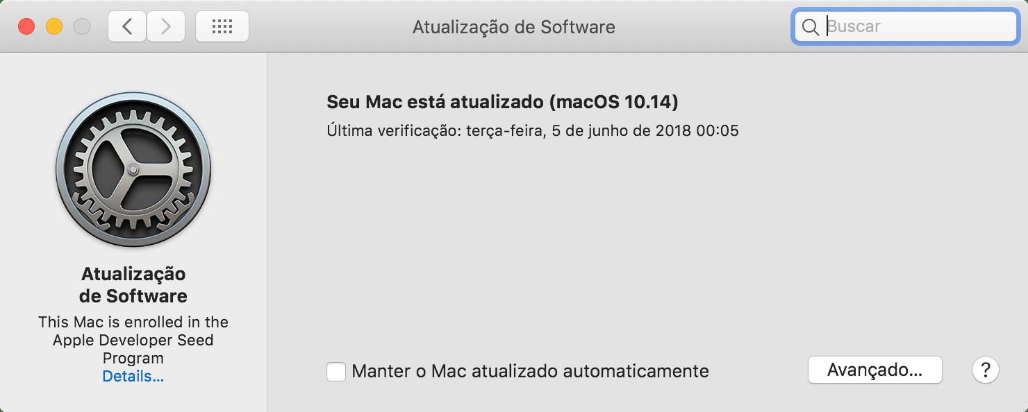 Tarkvarauuendus macOS-is 10.14 Mojave