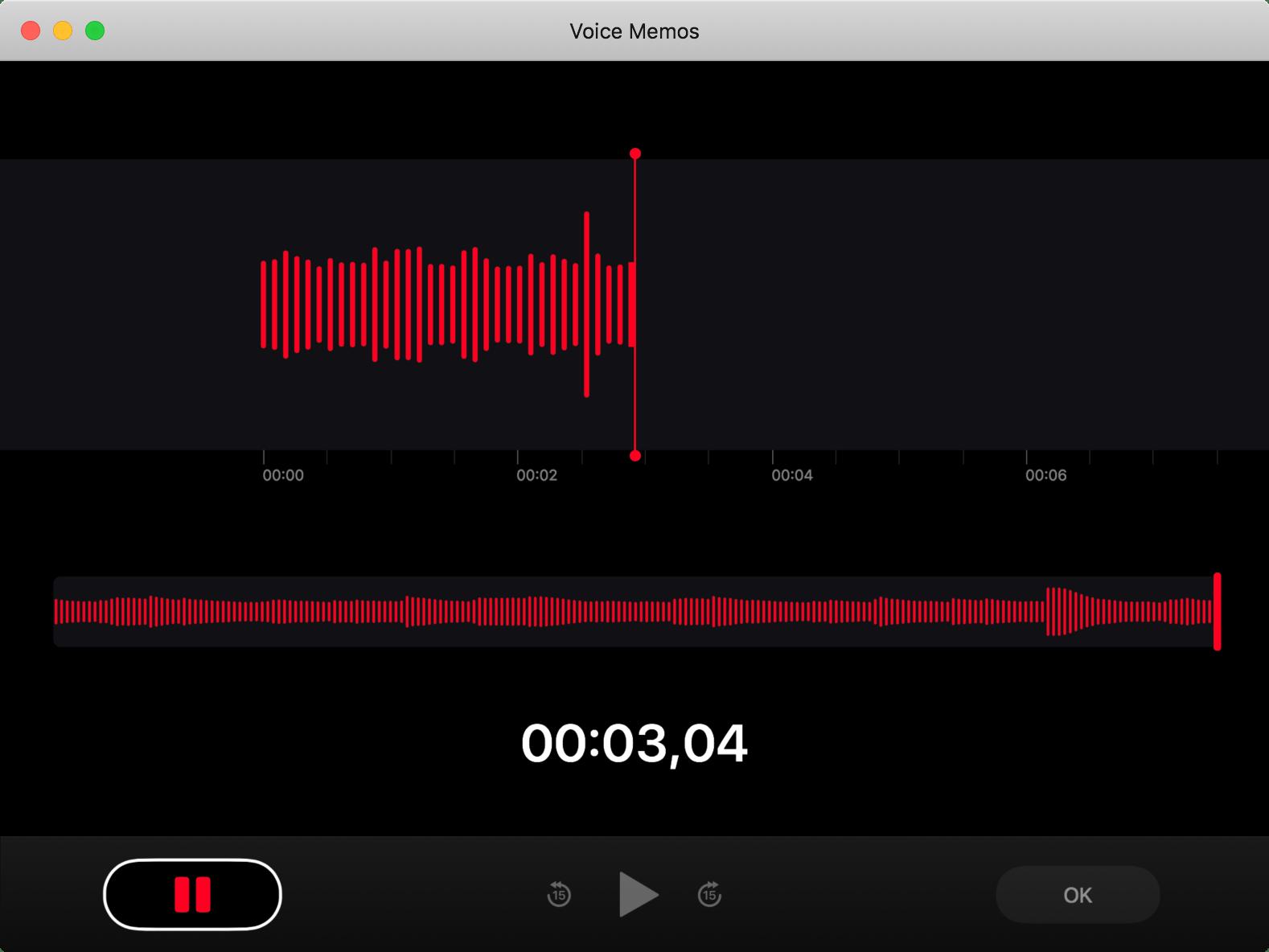 Salvestamise rakendus macOS-is 10.14 Mojave
