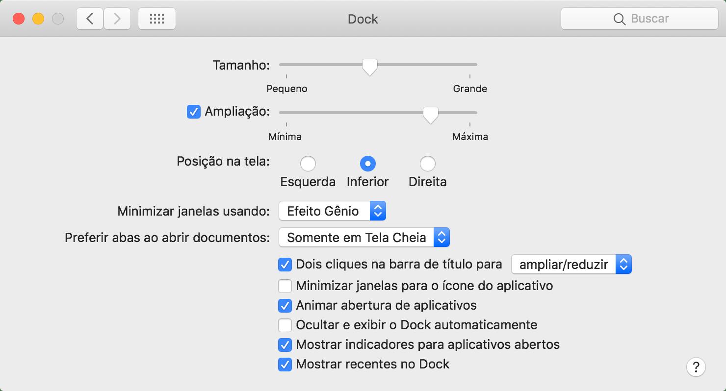 Viimane rakendus macOS 10.14 Mojave Dockis