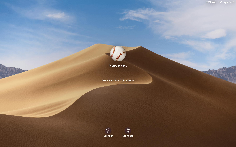 MacOS 10.14 Mojave sisselogimisekraan