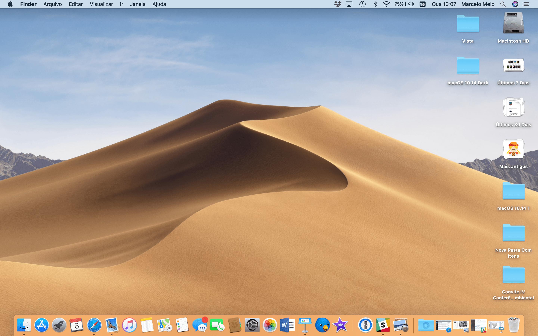 Tabelite korraldamine macOS-is 10.14 Mojave