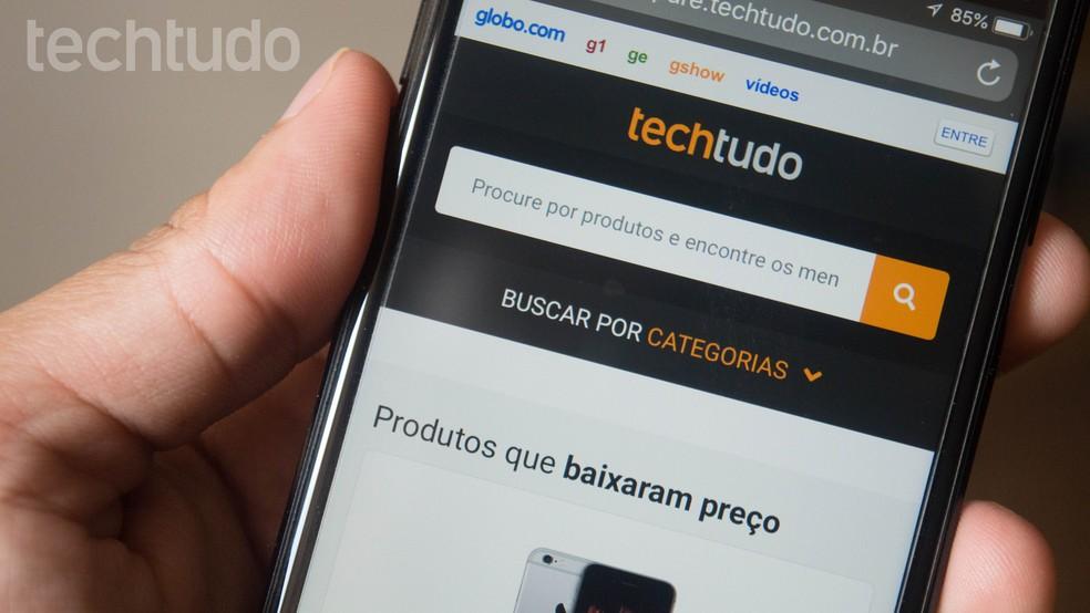 Võrrelge TechTudo veebis leiduvaid odavaid tooteid. Foto: Marvin Costa / TechTudo