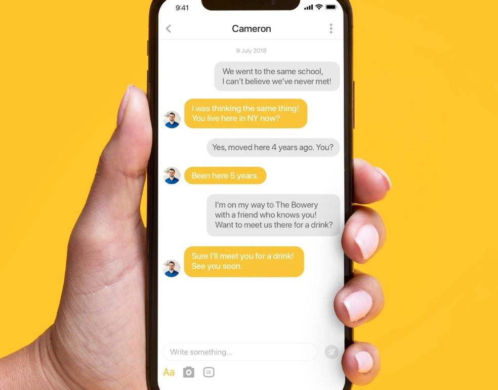 Matši aegumiseks peavad kasutajad vastama sõnumitele 24 tunni jooksul. Foto: Divulgao / Bumble