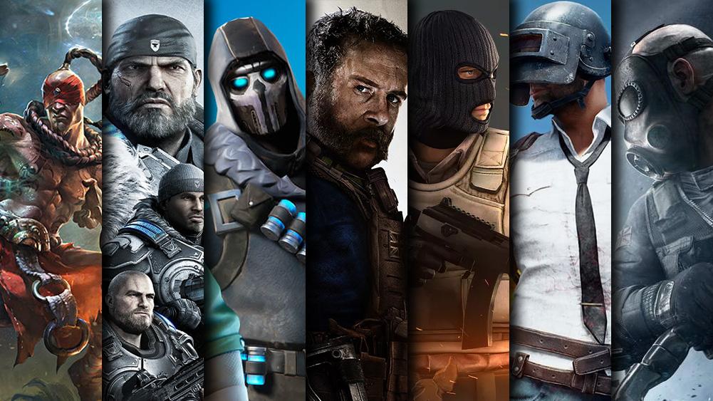 League of Legends Gear of War 5 Fortnite COD: Modern Warfare CS: GO PUBG Rainbow Six Siege