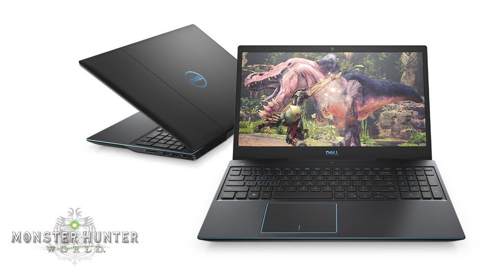 Dell Notebook juhib mängu Monster Hunter World