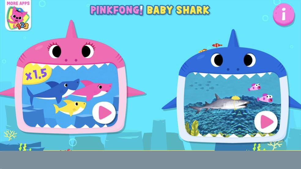 Rakendusel Baby Shark on fotohai jaoks erinevaid videoversioone: Reproduo / Rodrigo Fernandes