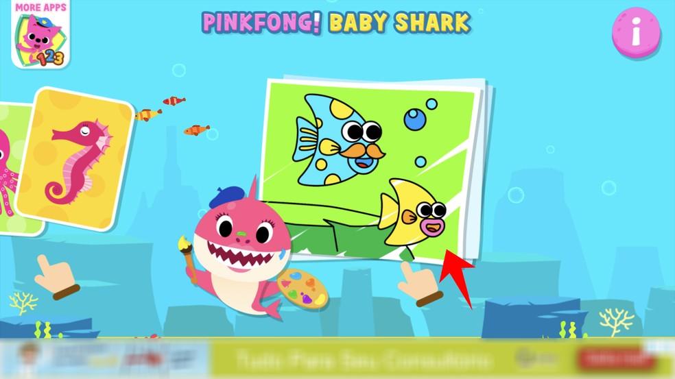 Rakendus Baby Shark on joonistanud fotomaalingute tegemise: Reproduo / Rodrigo Fernandes
