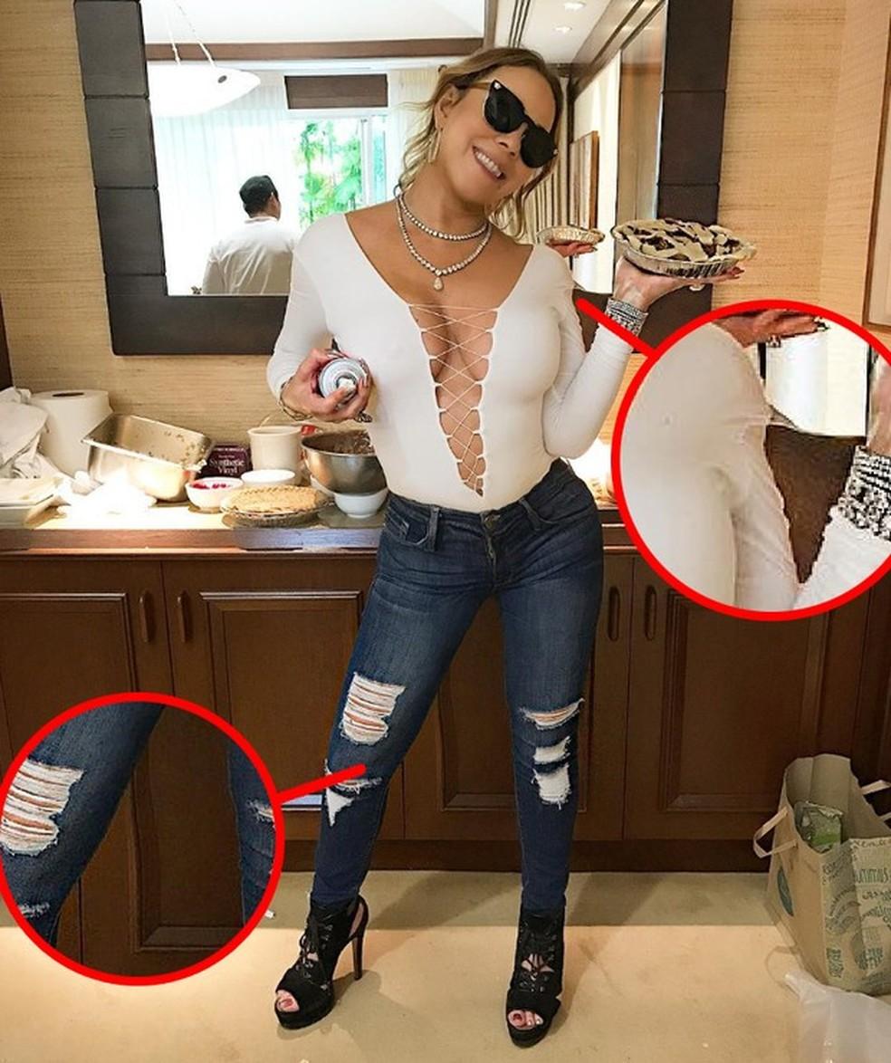 Mariah Careyt süüdistatakse Photoshop Foto: Reproduo / Instagram kasutamises