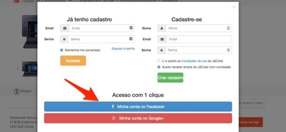 J Cotei veebisaidil registreerumisel ja hinnateadete seadmisel Foto: Reproduo / Marvin Costa