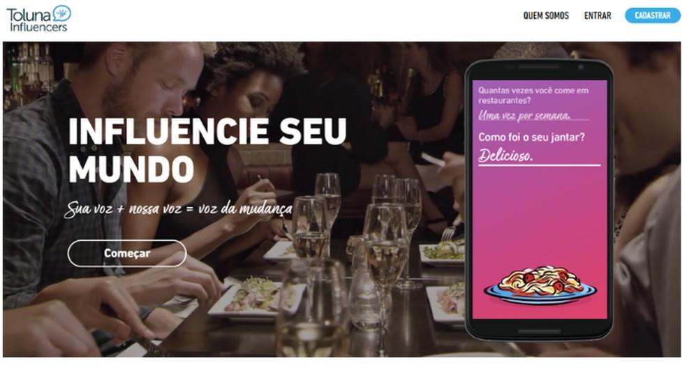 Toluna annab punkte ka kasutajatele, kes kutsuvad sõpru uuringutes osalema. Foto: Reproduo / Lvia Dmaso