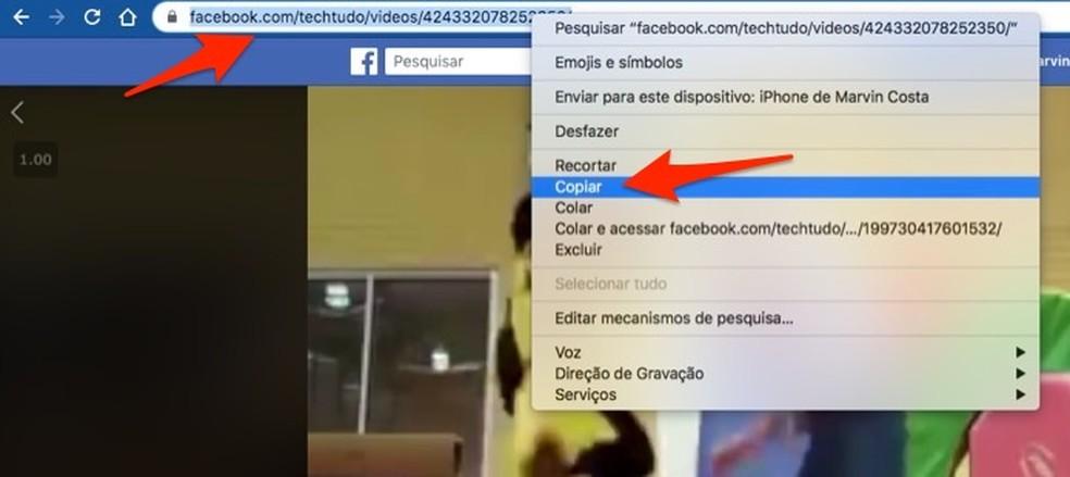 Kui kopeerite oma veebisaidil kasutamiseks Facebooki video linki, siis Foto: Reproduo / Marvin Costa