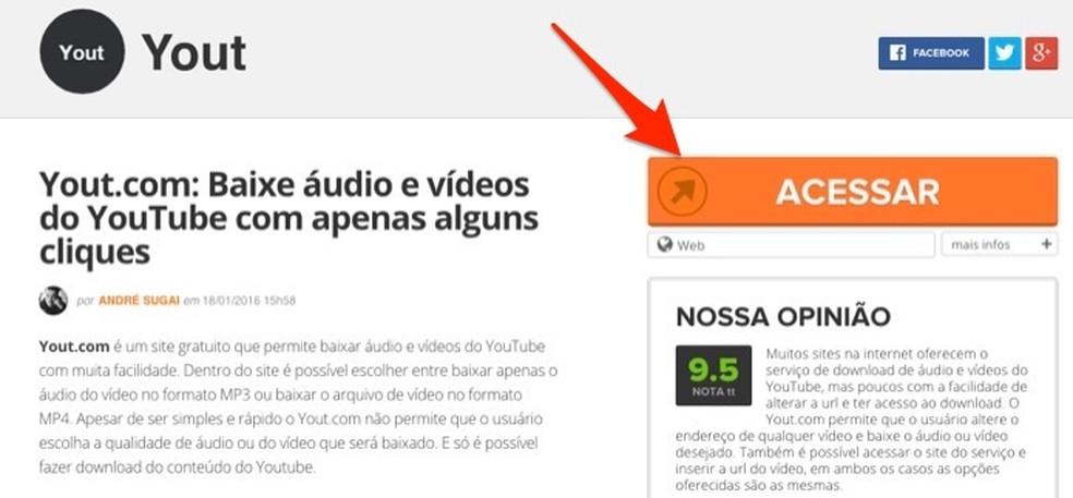 Juurdepääsul oma veebiteenusele videote allalaadimiseks Facebook'i fotodest: Reproduo / Marvin Costa
