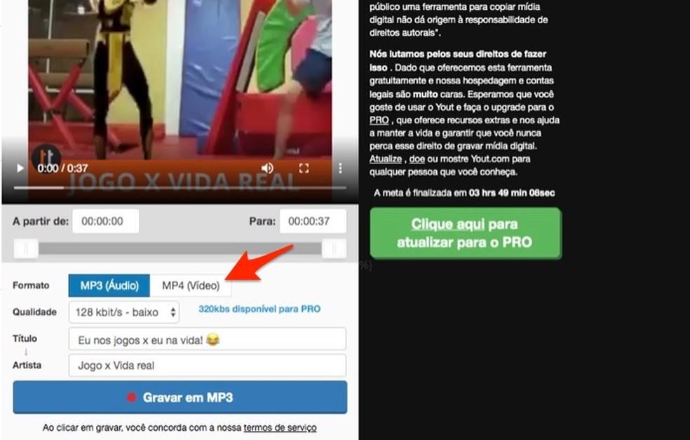 Yout-teenuse Facebooki videote allalaadimisvõimaluste vaatamisel Foto: Reproduo / Marvin Costa
