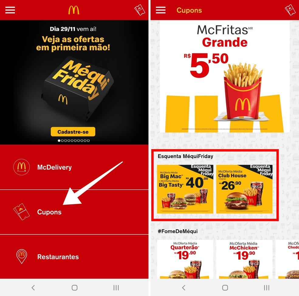 Juurdepääs McDonald's Photo'i kupongi piirkonna rakendusele: Reproduo / Paulo Alves