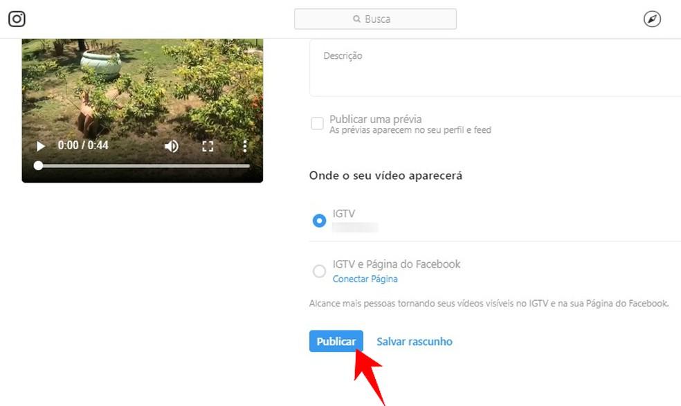 Arvuti abil saate IGTV-videoid eelvaate vaadata ka Instagrami fotokanalis: Reproduo / Rodrigo Fernandes