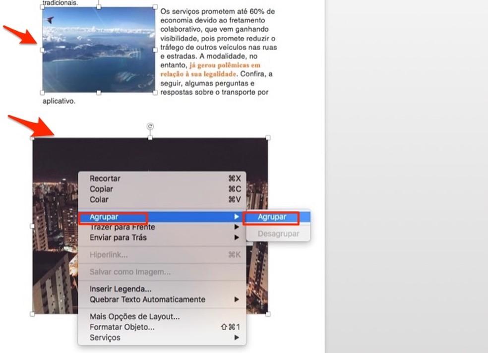 Millal rühmitada pilte Microsoft Wordi fotol: Reproduo / Marvin Costa
