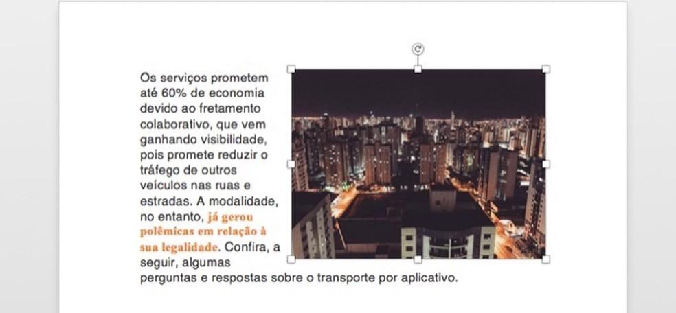 Pilt on ümber paigutatud Microsoft Wordi fotodokumenti: Reproduo / Marvin Costa