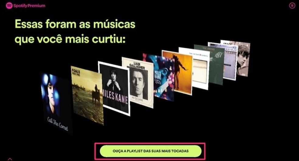 Ekraan Spotify konto eelistatud looga 2019. aastal Foto: Reproduo / Marvin Costa