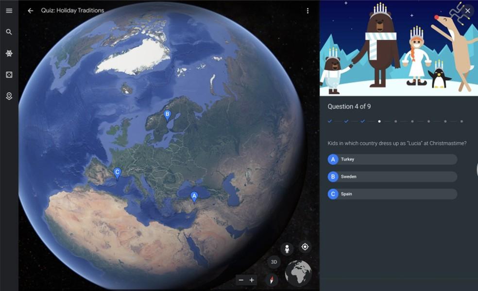 Vila do Plo Norte, Google'i jõuluvaatlus, on integreeritud rakendusega Google Earth Photos: Divulgao / Google