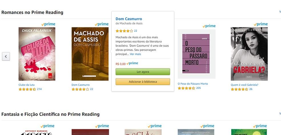 Lugege oma brauseris peamise lugemise raamatuid või lisage rakenduses Kindle Photos lugemiseks raamatukogu: Reproduo / Paulo Alves