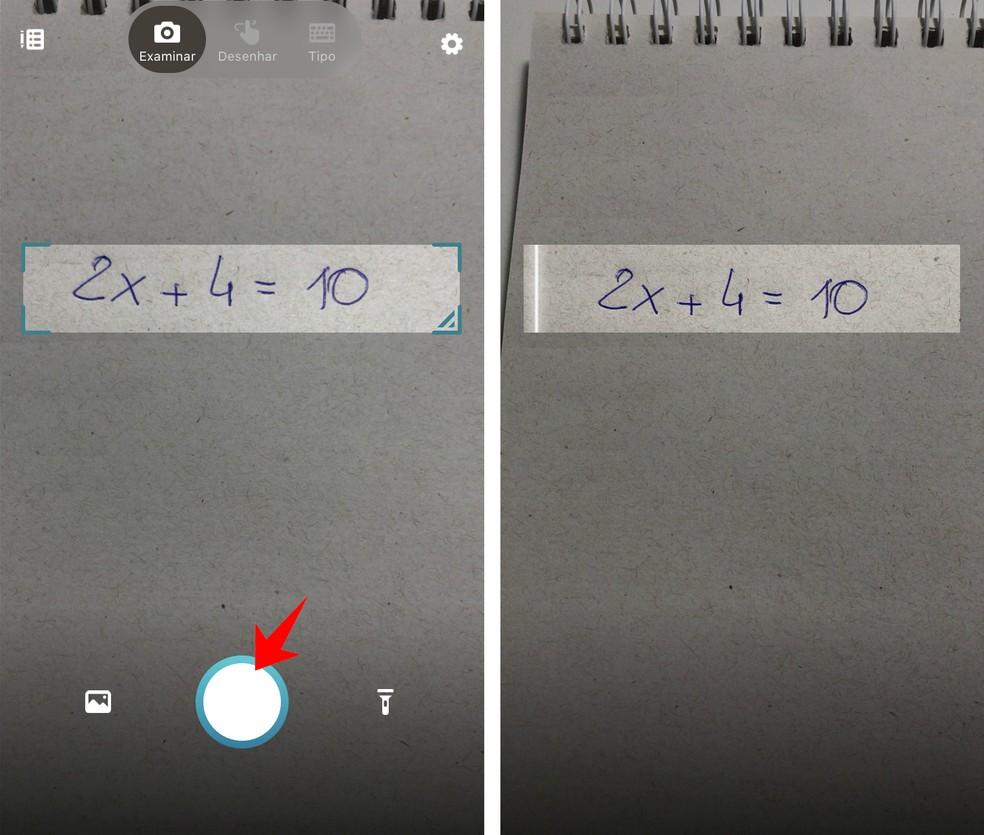 Microsoft Math Solver loeb mobiiltelefoni kaameraga matemaatikavõrrandid Foto: Reproduo / Rodrigo Fernandes