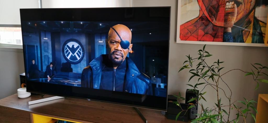 Televiisoril Sony X855G on funktsioon, mis vähendab pildi moonutamist liikumise korral