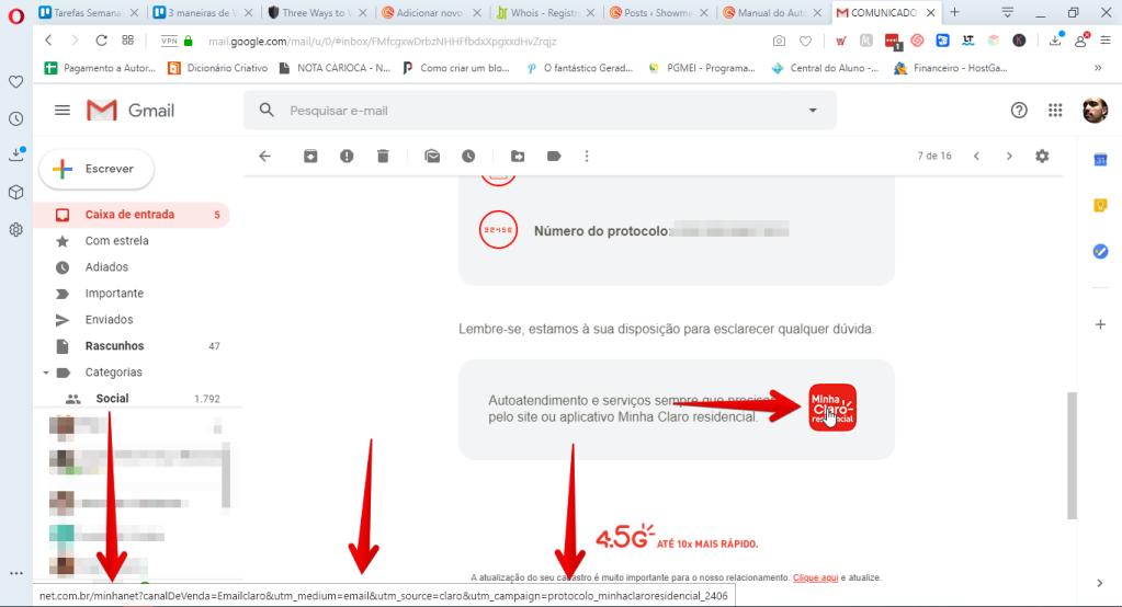 kontrollige e-posti lingi identiteeti