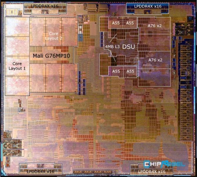 Kirin 980 - protsessor - SOC - mikroskoop