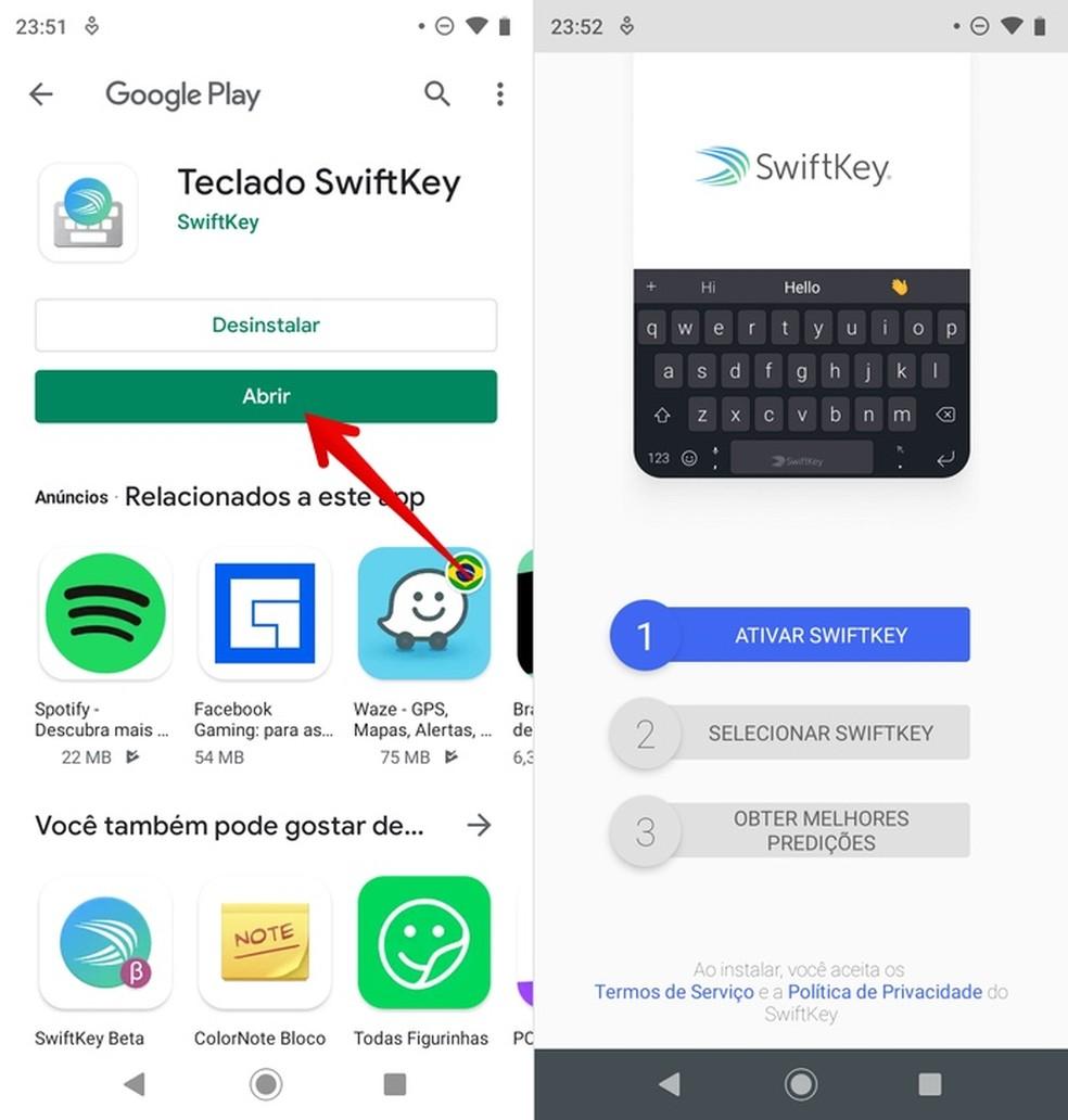 Uue klaviatuuri konfigureerimine Android-fotodel: Reproduo / Helito Beggiora