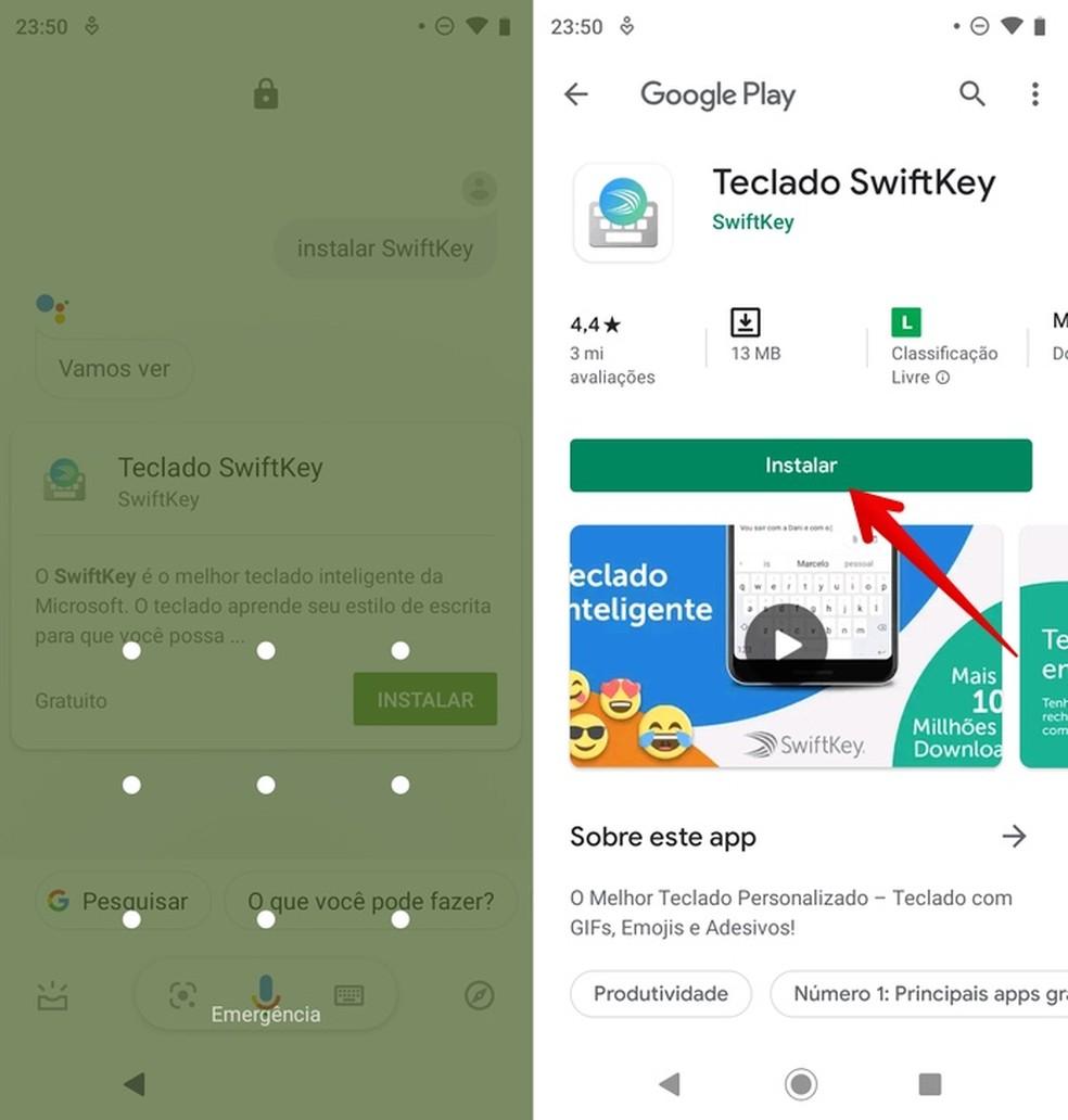 Installige rakendus Google Assistant Photo kaudu: Reproduo / Helito Beggiora