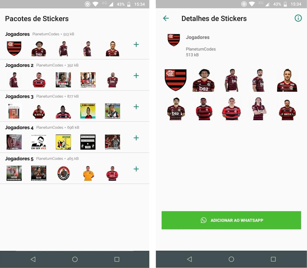 Flamengo kleebised WhatsAppile WAStickeril on kleebised rivaalide nalja tegemiseks Foto: Reproduo / Rodrigo Fernandes