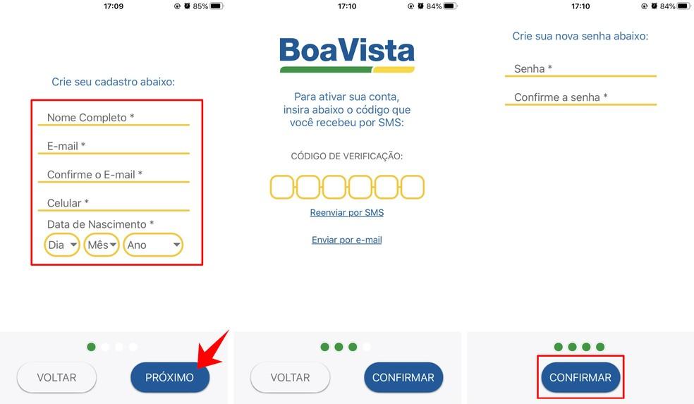 Koostage nimekiri Boa Vista Consumidor Positivo lehel, et konsulteerida tasuta CPF-iga Foto: Reproduo / Rodrigo Fernandes