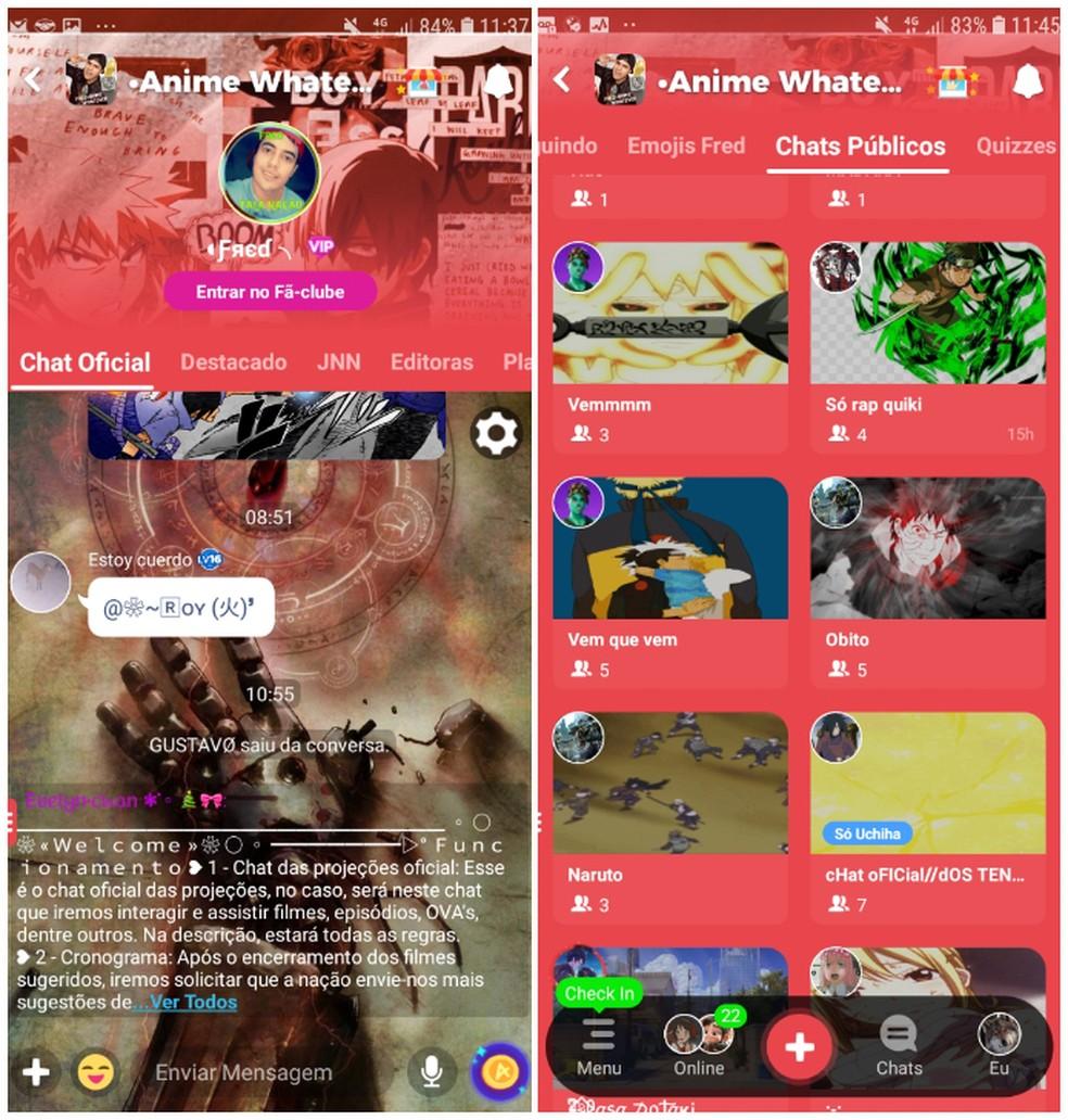 Amino Apps lubab erinevat tüüpi fotovestlusi: Reproduo / Daniel Dutra