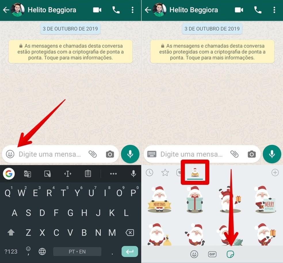 Saatke jõulukleebiseid WhatsAppil Foto: Reproduo / Helito Beggiora
