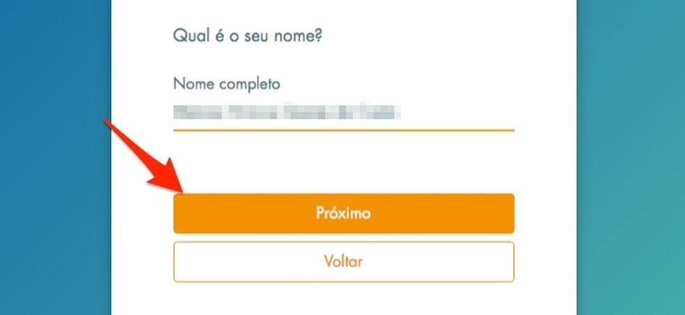 Loterias da Caixa veebisaidil uute kasutajate registreerimisel oma täisnime määramisel Foto: Reproduo / Marvin Costa
