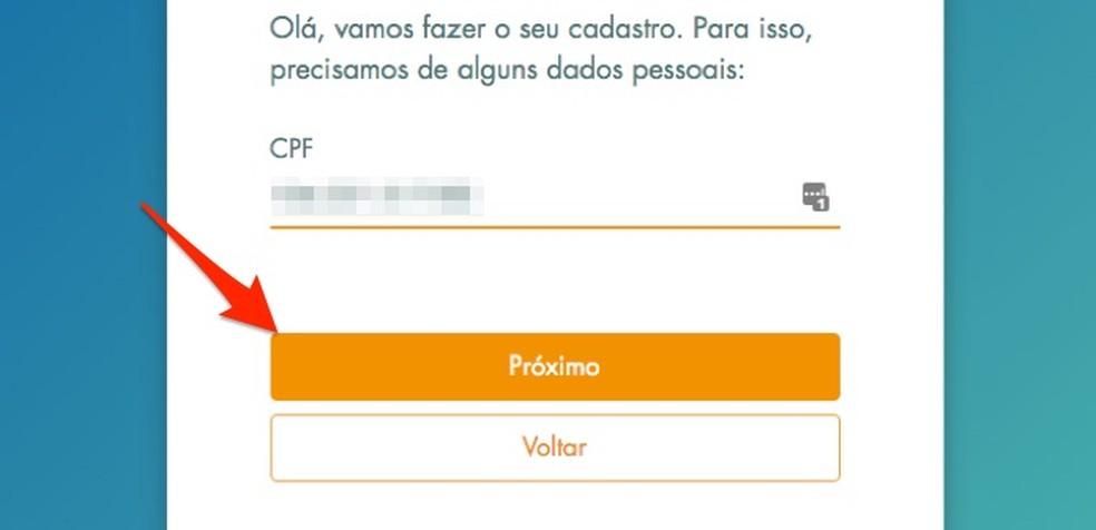CPF-i registreerimisel uue kasutaja registreerimisel Loterias da Caixa veebisaidil Foto: Reproduo / Marvin Costa