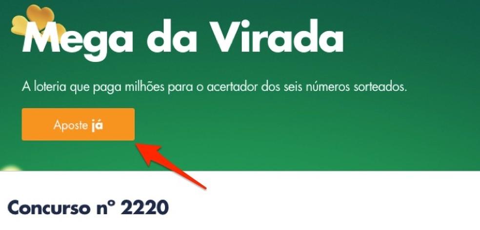 Loterias da Caixa veebisaidil Megasena da Virada kihlvedude lehele sisenedes Foto: Reprdouo / Marvin Costa