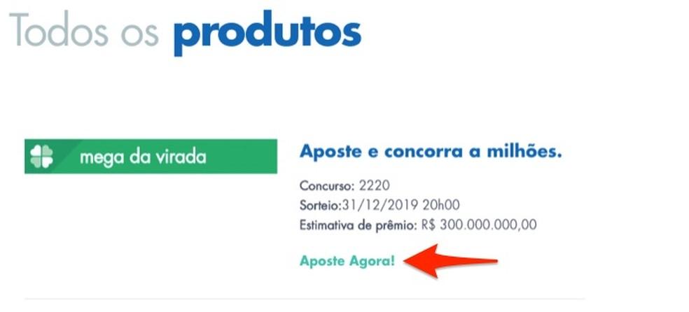 Loterias da Caixa veebisaidil Megasena da Virada kihlvedude lehele sisenedes Foto: Reproduo / Marvin Costa