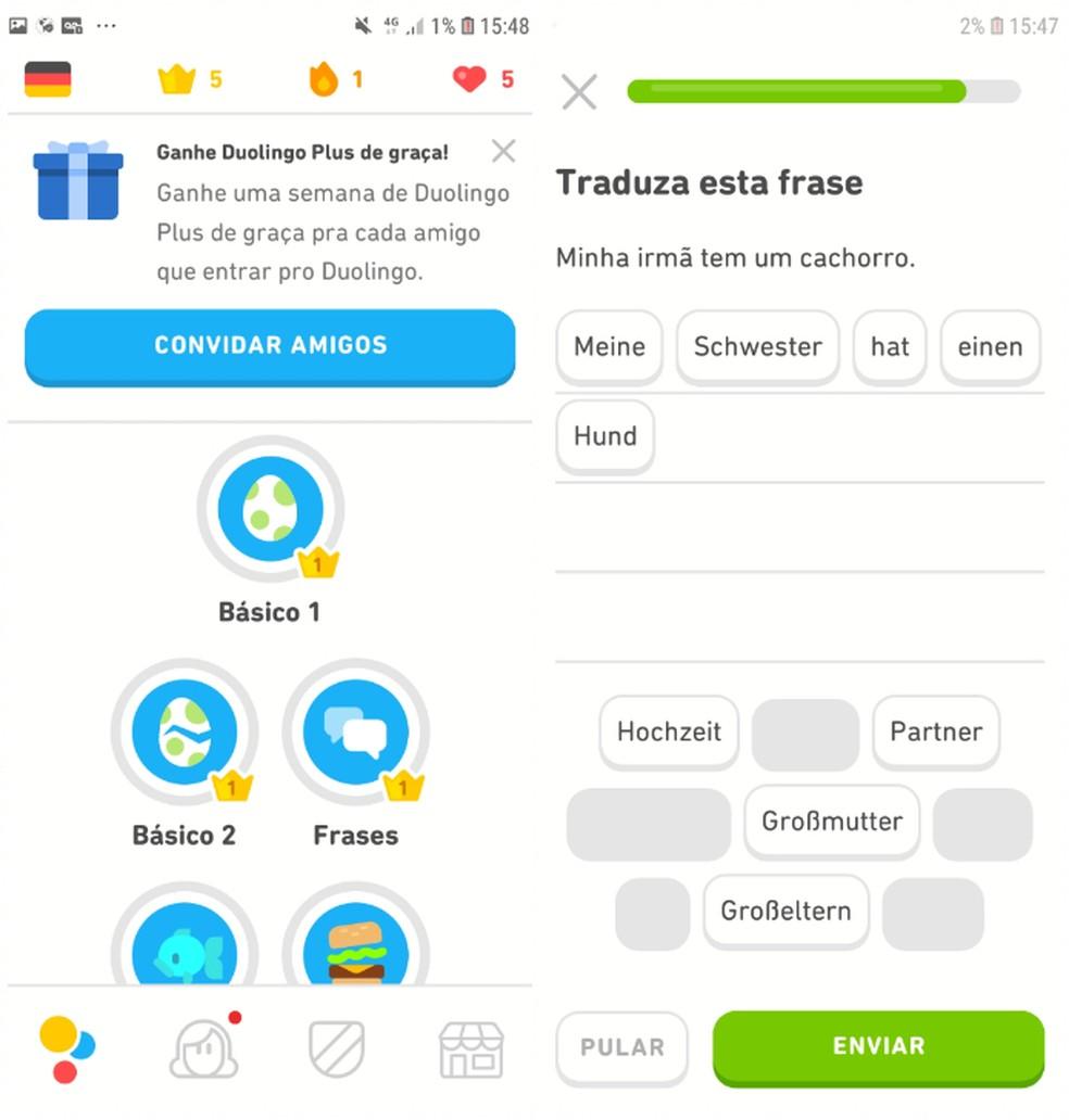 Duolingo võimaldab teil osaleda võistlustel ja õppida fotode tõlkimisega: Reproduo / Daniel Dutra