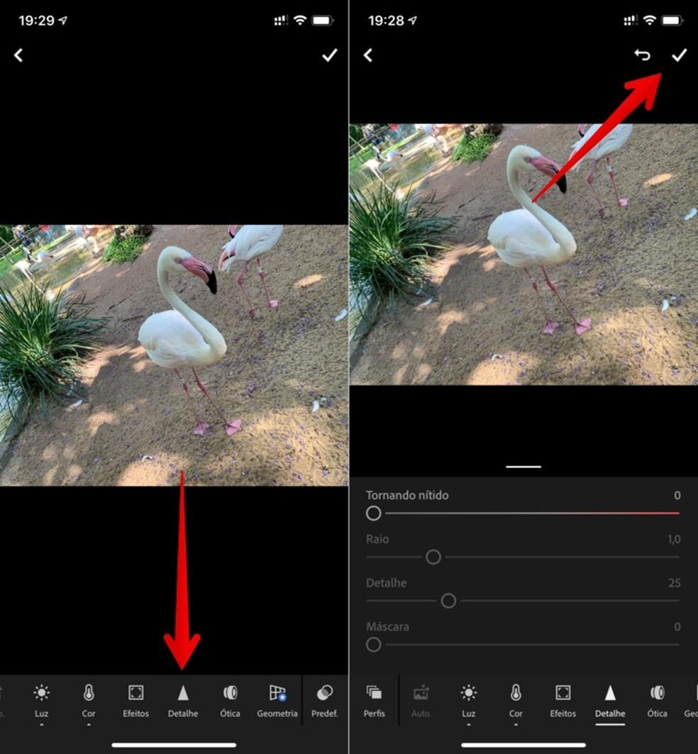 Foto teravuse muutmine rakenduses Adobe Lightroom Photos: Reproduo / Helito Beggiora