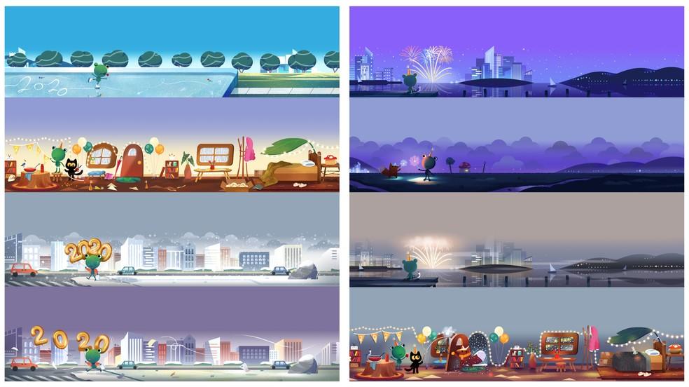 Teised uusaasta logod tähistavad foto 2020 saabumist: Reproduo / Google