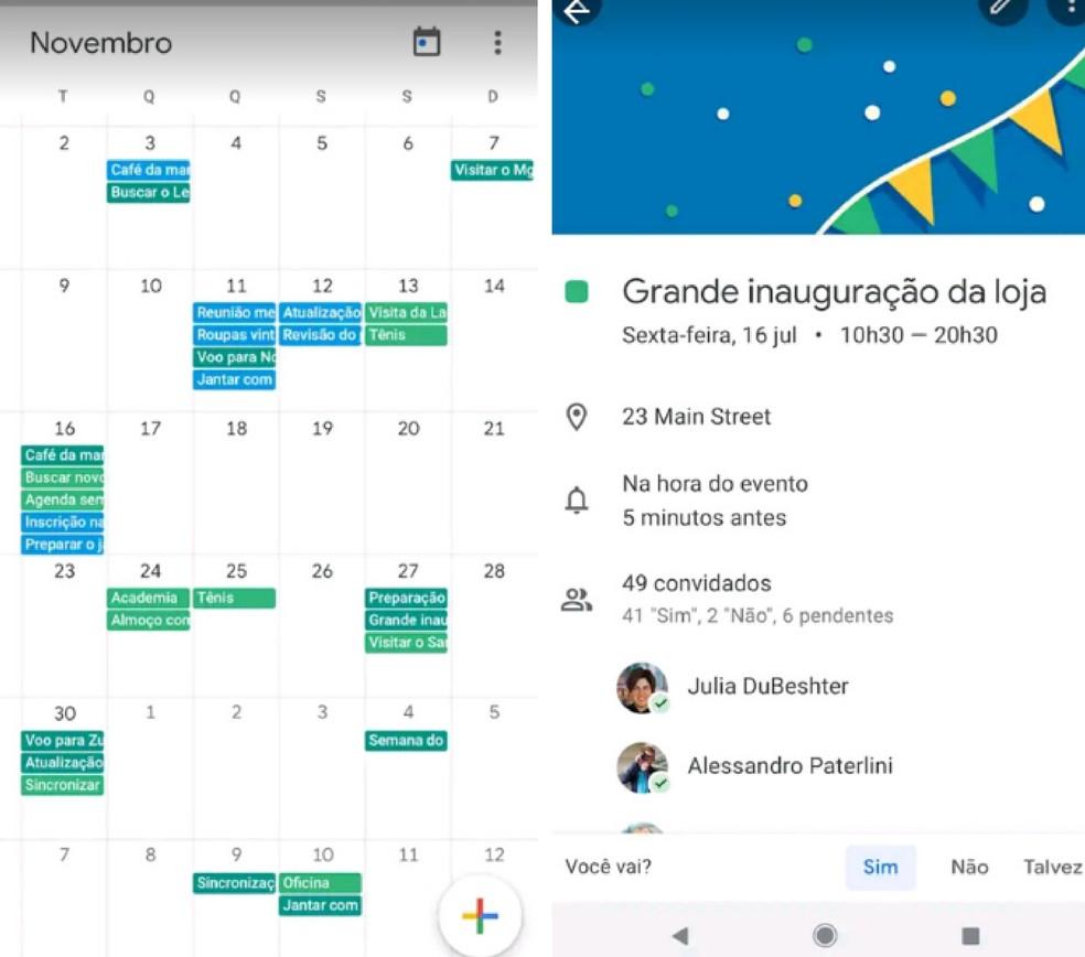 Google'i kalender on nutikas kalender, mis võimaldab teil lisada teavet ülesannete ja kohtumiste kohta Foto: Divulgao / App Store