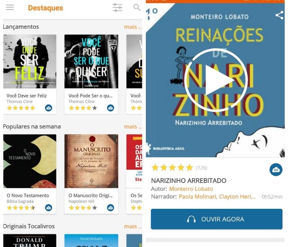 Tocalivrosi audioraamatute kaudu saate tasuta portugali keeles audioraamatuid kuulata Foto: Reproduo / Graziela Silva