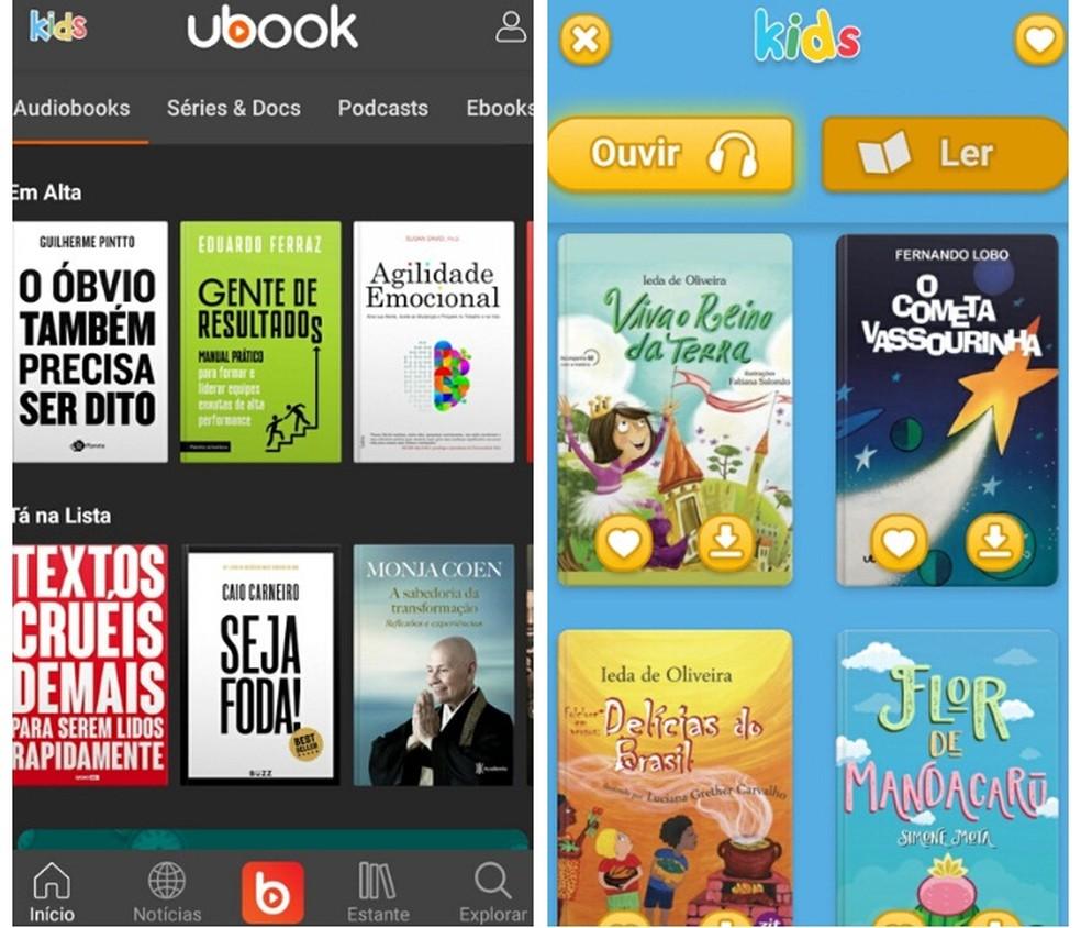Lisaks tasuta heliraamatute pakkumisele on Ubook lastele isikupärastatud audioraamatu versioon. Foto: Reproduo / Graziela Silva