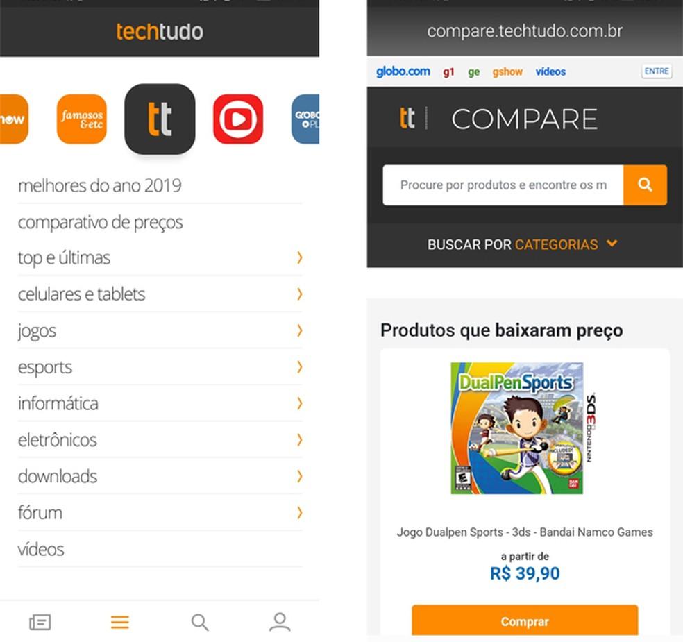 TechTudo võrdleb tootehindade leidmist mitmes kaupluses, et leida reklaamfotosid: Reproduo / TechTudo