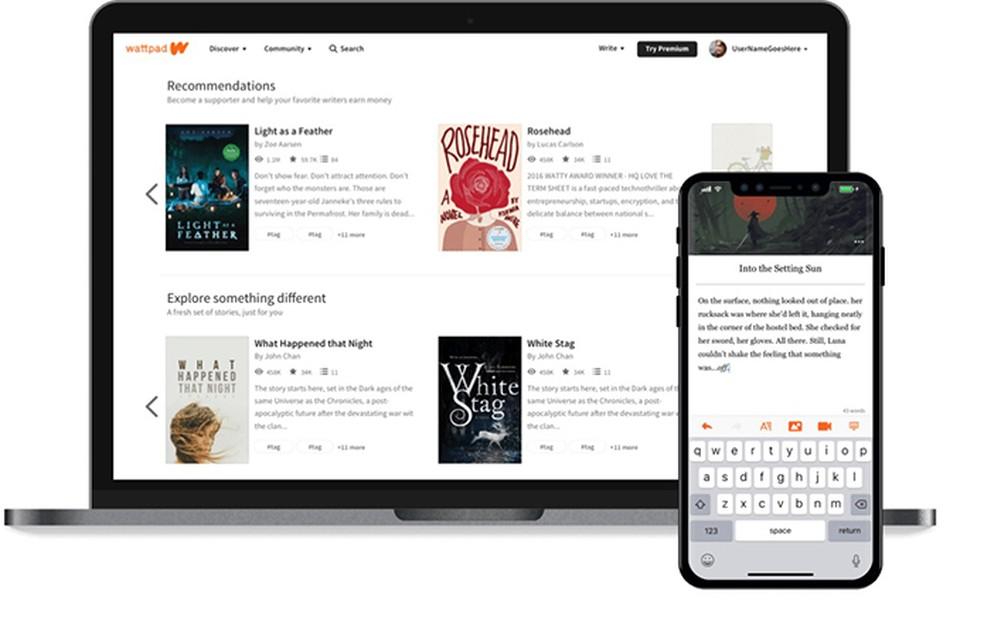 Wattpad: tasuta rakendus võimaldab jagada fotoraamatuid: Divulgao / Wattpad