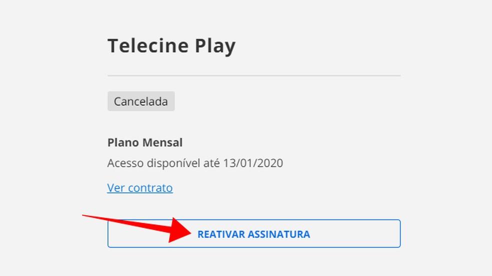 Aktiveerige Telecine Play Photo uuesti: Reproduo / Paulo Alves tellimus