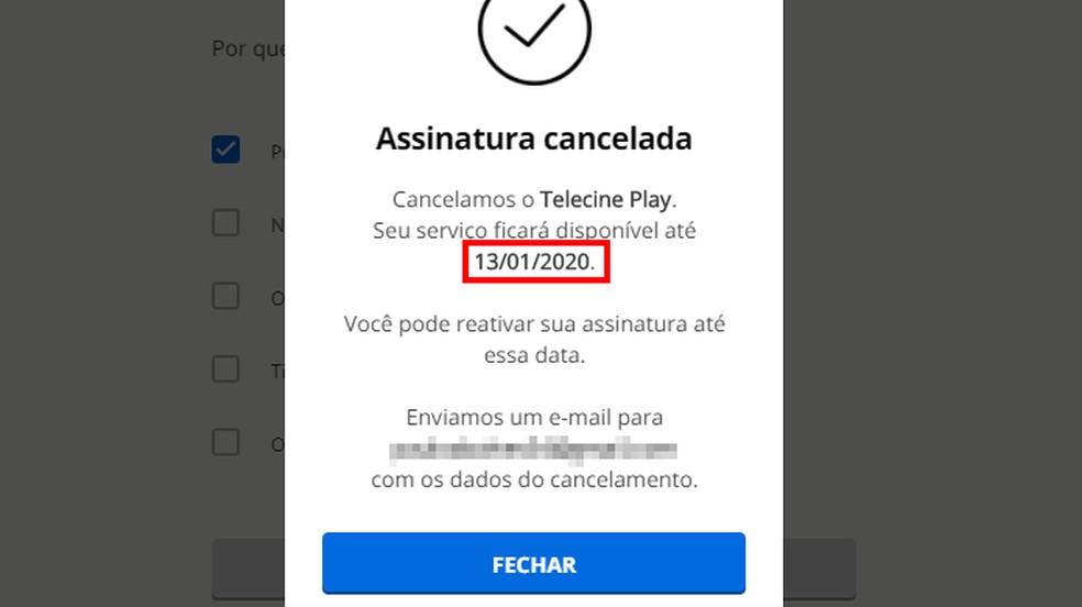 Enne foto: Reproduo / Paulo Alves tellimuse lõppemist kontrollige tähtaegu, millal teenused jäävad juurdepääsetavaks