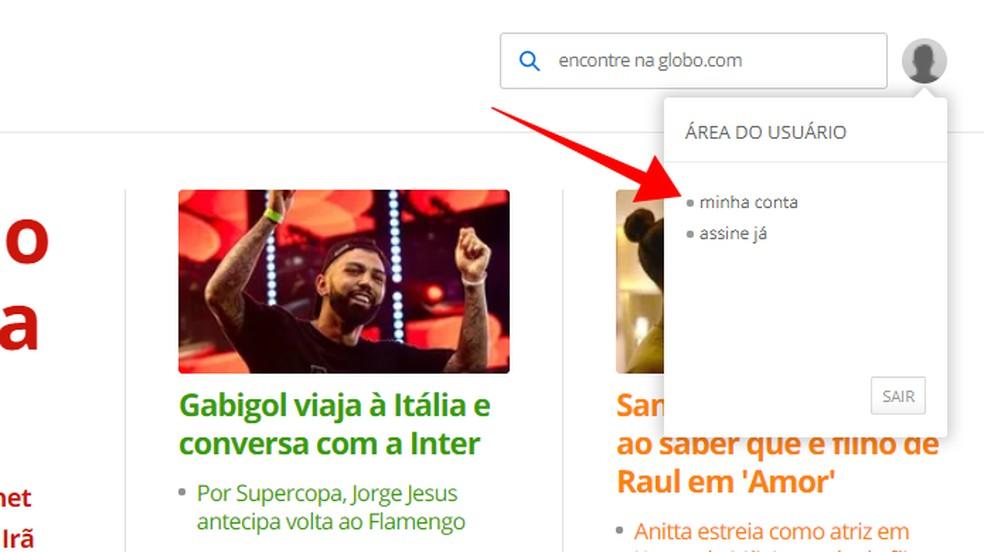 Juurdepääs oma Globo konto fotodele: Reproduo / Paulo Alves